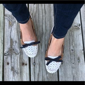 Sperry Top Side White Ballet Flats